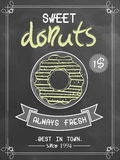 Flyer or menu card for donuts shop. Stock Image