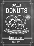 Flyer or menu card for donuts shop. Stock Images