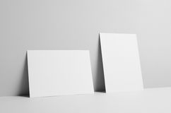 A5 Flyer Mock-Up - Wall Background. A photo of a A5 Flyer  Mock-Up on a wall background Royalty Free Stock Image