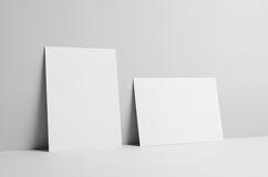 A5 Flyer Mock-Up - Wall Background. A photo of a A5 Flyer  Mock-Up on a wall background Stock Photos