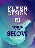 Flyer music background poster. Event show design template illustration. Stock Images
