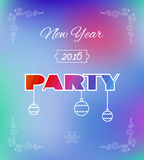 Flyer for 2016 New Year's Eve Party celebration. Stock Photography