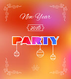 Flyer for 2016 New Year's Eve Party celebration. Stock Image