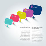 Flyer page. Magazine layout for infographics. Stock Images