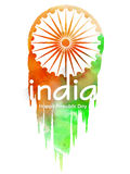 Flyer or Pamphlet for Indian Republic Day. Stock Photo