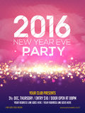Flyer or Pamphlet for New Year's Eve Party. Shiny elegant Flyer, Banner or Pamphlet for Happy New Year's 2016 Eve Party celebration Royalty Free Illustration