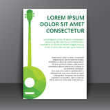 Flyer with a polygonal banjo Stock Photo