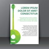 Flyer with a polygonal banjo Royalty Free Stock Photos