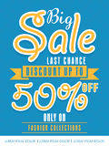 Flyer, poster or banner design for big sale. Stock Photos