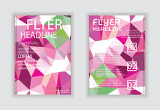 Flyer & Poster Design in A4 Size Template. Stock Images