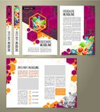 Flyer, cover design, business brochure. Flyer, power point presentation template, cover design of the companys annual business report, scientific report royalty free stock image