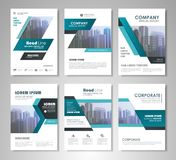Flyer presentation template Royalty Free Stock Photography
