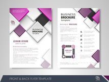 Flyer presentation template Stock Images