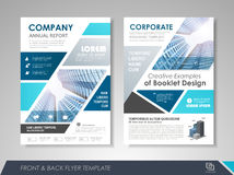 Flyer presentation template Royalty Free Stock Photos
