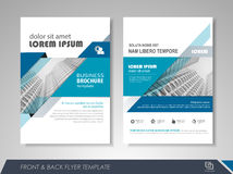 Flyer presentation template Royalty Free Stock Photo