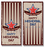 Flyer set for Memorial Day Stock Image
