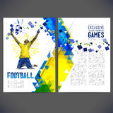 Flyer on a soccer theme. Royalty Free Stock Photos