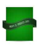 Flyer with St.Patrick day design Stock Photo