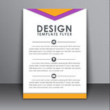 Flyer in the style of the material design Stock Photos