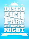 Flyer on summer dance party. This is file of EPS10 format Royalty Free Stock Photos