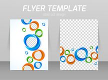 Flyer template Stock Photography