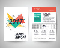 2017 flyer a4 template. 2017 abstract flyer layout template, brochure background, leaflet with cover, vector design in a4 size for business annual report Stock Images