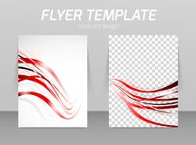 Flyer template Stock Image