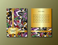 Flyer template with abstract ornament pattern. Stock Image
