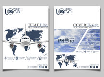 Flyer Template Airlift Royalty Free Stock Images