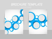 Flyer template back and front design Stock Photography