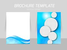 Flyer template back and front design Royalty Free Stock Photo