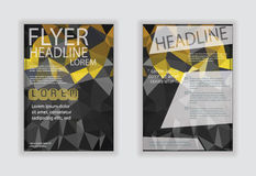 Flyer template back and front design. Brochure design Royalty Free Stock Images