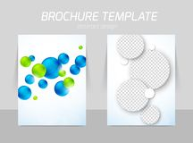 Flyer template back and front design Stock Images
