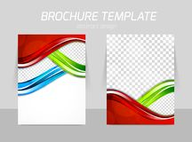 Flyer template back and front design Royalty Free Stock Images