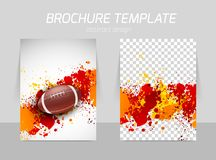 Flyer template back and front design Royalty Free Stock Photography