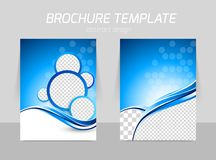 Flyer template back and front design Stock Photo