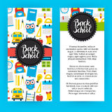 Flyer Template Back to School Royalty Free Stock Images