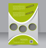 Flyer template. Brochure design.  A4 business cover. Stock Image