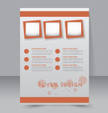Flyer template. Brochure design.  A4 business cover. Royalty Free Stock Photography