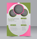 Flyer template. Brochure design. A4 business cover. royalty free illustration