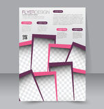 Flyer template. Brochure design.  A4 business cover. Stock Photography