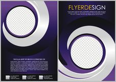 Flyer template. Brochure design. A4 business cover Royalty Free Stock Photography