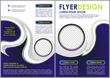 Flyer template. Brochure design. A4 business cover Stock Photography