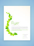 Flyer, template or brochure design for ecology. Royalty Free Stock Photography