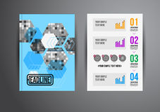 Flyer template Royalty Free Stock Photo