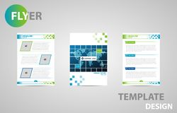 Flyer Template Brochure Modern A4 Design with empty space for photo. vector illustration