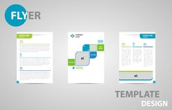 Flyer Template Brochure Modern A4 Design with empty space for photo. stock illustration