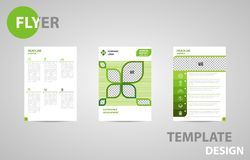 Flyer Template Brochure Modern A4 Design with empty space for photo. royalty free illustration