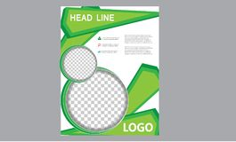 Brochure Flyer Template Magazine Cover Booklet Layout Poster Annual Report Illustration A4 page Business Company Leaflet Headline royalty free stock image