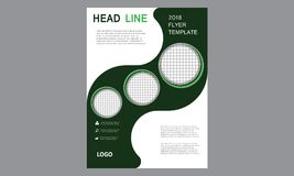 Brochure Flyer Template Magazine Cover Booklet Layout Poster Annual Report Illustration A4 page Business Company Leaflet Headline stock photography